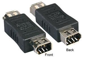 Firewire IEEE-1394 6 Pin Female F/F Converter Adapter Gender Changer Extender