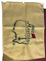 2003 Masters Golf Pin Flag Augusta Won by Mike Weir Vintage - New Condition