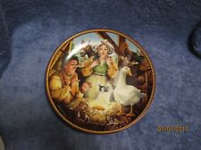 Knowles The Goose That Laid The Golden Egg Collector Plate by Michail Hampshire