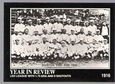 1992 BABE RUTH IN A RED SOX TEAM BASEBALL CARD Number 8!!