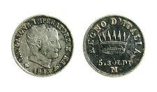 pcc1839_17) Milano Napoleone I (1805-1814) Re d' Italia 5 soldi 1813