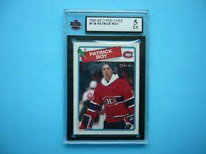 1988/89 O-PEE-CHEE NHL HOCKEY CARD #116 PATRICK ROY KSA 5 EX SHARP+ 88/89 OPC