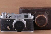 FED 2 Vintage Soviet Rangefinder Camera and Lens Industar-26M 2,8/52mm.