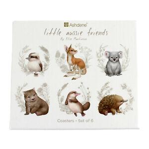 6 Australia Animal Souvenir Coasters 6 Different Aussie Oz Animals Gift Box