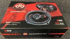 DB Drive S69 450 Watts Max/125 Watts RMS Power 4-Way 6X9 Speed Series Speakers