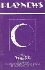 "Schmidt & Jones ""THE FANTASTICKS"" Sarah Rice (Debut) / Lore Noto 1975 Playbill"