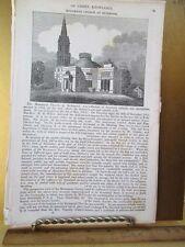 Vintage Print,MONUMENT CHURCH AT RICHMOND,American Magazine,19th Century
