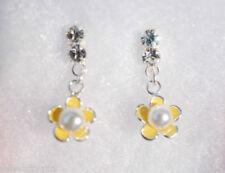 Orecchini di lusso con perle pendenti bianchi argento sterling