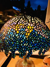 Wisteria leaded lamp Shade,Slag,Stained Glass Shade,Arts Crafts,Handel Lamp Era.