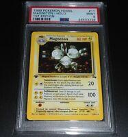 PSA 9 MINT Magneton 11/62 1ST EDITION Fossil Set HOLO RARE Pokemon Card