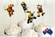 12 x Teenage Mutant Ninja Turtles TMNT Cupcakes Jelly Cup Topper Birthday Party