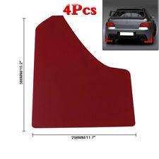 4Pcs Wide Body Car Van Red Mudflaps Mud Flaps Guard Fender Universal With Screws