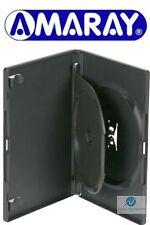 10 DOPPIA NERO DVD Case 14 MM SPINA CON INTERNO Swing VASSOIO contiene 2 Dischi Amaray