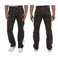 Mens Jeans Ez329 In Black Colour Straight Leg Designer Pants All Sizes 28 To 48
