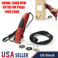400W 3400rpm Mini Hand Held Circular Saw Cutting Tool Electric Laser Grinder USA