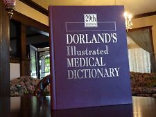 DORLAND'S ILLUSTRATED MEDICAL DICTIONARY 29TH EDITION HARDCOVER SAUNDERS 2000