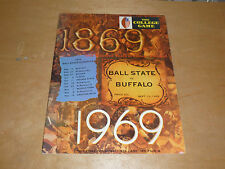 1969 UNIVERSITY AT BUFFALO UB AT BALL STATE COLLEGE FOOTBALL PROGRAM  EX-MINT