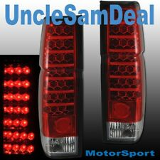 86-97 FOR NISSAN HARDBODY PICKUP EURO RED LED L.E.D. TAIL LIGHTS PAIR DIRECT FIT