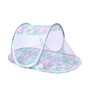 Mosquito Net Tent Portable Folding Baby Travel Crib Pop Up Boat Shape Tent Bed J