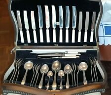 Vintage Viceroy Plate & Stainless Steel 53 piece Canteen in a Serpentine Box