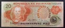 20 Pesos Banknote Philippines Manuel L. Quezon S#TU931855