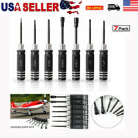 US 7pcs Hex Nut Screwdriver RC Tools Kit Set for RC Model Bench Work Engineering