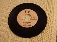 ROCKABILLY LARRY BLOIS  WALLFLOWER/WEDDING WALTZ  17  402
