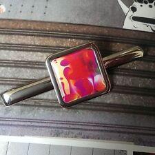 Lámpara de Lava única de Clip de Corbata Cromo Groovy Retro años 70 diseñador de luz de aceite de discoteca Fab!