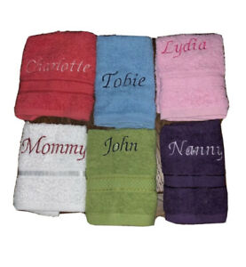 ONE WEEK ONLY £1.99  personalised face towel any colour
