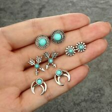 4Pairs/Lot Fashion Ear Stud Bohemian Small Stud Earrings Set Party Jewelry Gift