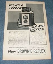"1940 Eastman Kodak Brownie Reflex Vintage Camera Ad ""Yes, It's A Reflex"""