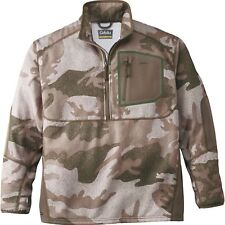 Cabela's Men's Outfitter Camo Merino Wool Waterproof 1/2 Zip Hunting Pullover