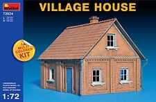 MiniArt 1/72 72024 Village House (Multi Colored Kit, WWII Military Diorama)
