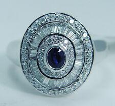 Estate Jewelry Sale! Tag $2899 Sapphire .86ct Diamond 18K White Gold Ring