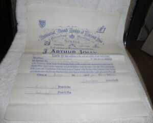 Vintage Masonic certificate, Craft, Prov Grand Lodge of Sussex dated 1966
