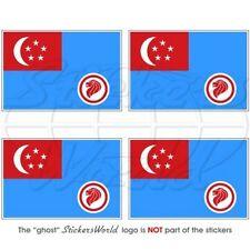"SINGAPORE Air Force RSAF '90-Presente Bandiera Adesivi 50mm (2"") Stickers x4"