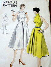 LOVELY VTG 1950s DRESS VOGUE Sewing Pattern 14/32