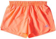 adidas Womens Ladies Response Climalite Running Gym Shorts With Mesh Inner Brief Orange 10