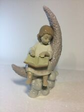 Lladro Figurine 6840 Dreaming of the Stars, Mint, Retired, box, Girl Angel, Book