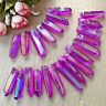 Rare Natural Purple Aura Lemurian Quartz Crystal Stones Point Specimen New
