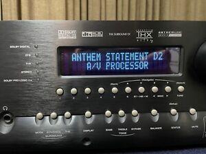 Anthem Statement D1 7.1 Pre/Pro No Reserve/ $.99  Auction