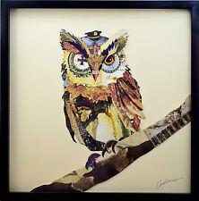 L Général 3D Art Collage Image Chouette Hibou Oiseau Armée Militair Mural Dessin