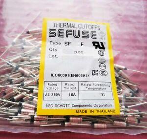 100pcs New SF139E 142°C Celsius Degree 10A 250V SEFUSE Cutoffs NEC Thermal Fuse