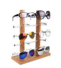 1665713a95 Caso de exhibición de madera de 10 pares de gafas de sol Gafas Estante  Mostrar Racks Soporte ventana de visualización