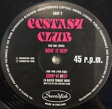 "ECSTASY CLUB Doin' It Deep 12"" Single UK Techno Electronic"