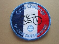 Cycle Challenge Cross Gates Girl Guides Cloth Patch Badge L5K D