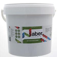 (6,50 €/L) 10 Liter - Wetterschutzfarbe - HELLELFENBEIN -