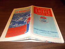 1960s Quebec City City-issued Vintage Road Map
