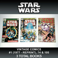3 Star Wars Comic Books #1 Reprint Variant Marvel Han Solo Luke Skywalker Vintag