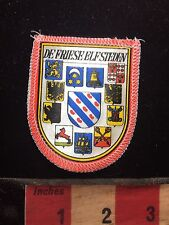 DE FRIESE ELF STEDEN Holland / The Netherlands Patch BENELUX Coat Of Arms C75D